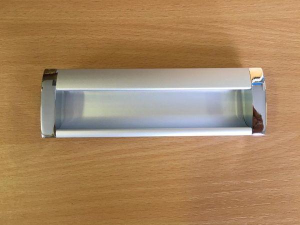 Króm szürke fogantyú két méretben F009(2)