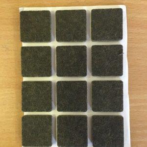 Bútorcsúszó filc öntapadós 25x25x3,5mm